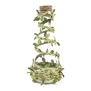 65 Feet Natural Jute Twine, Artificial Vine Fake Foliage Leaf Plant with Artificial Green Leaves for Macrame, Wall Decor Hanging, Wedding Bouquet Wrapping 4