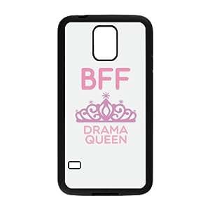 JCCFAN BFF Floral Mint Pink Arrow Queen & Princess Best Friend Couple Phone Case For Samsung Galaxy S5 i9600