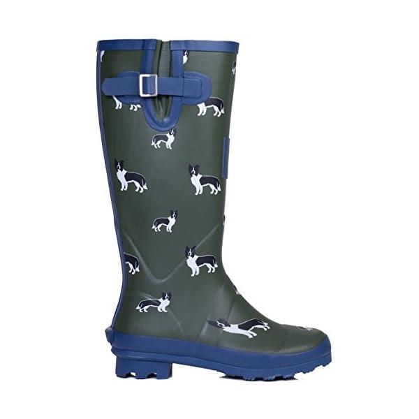 Spylovebuy Igloo Women's Adjustable Buckle Flat Festival Wellies Rain Boots 3