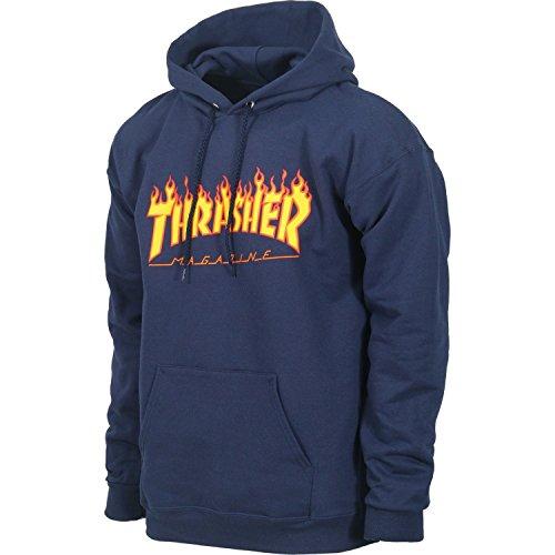 218d45ccdd63 Thrasher Flame Logo Hoodie Navy Blue Orange Pullover Men s Sweatshirt - Buy  Online in UAE.