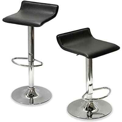 Bar Stool Airlift Swivel Barstools Adjustable (Set of 2)