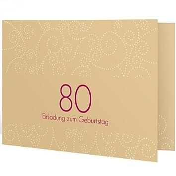 Einladungskarte Zum 80 Geburtstag Looping Geburtstagseinladung
