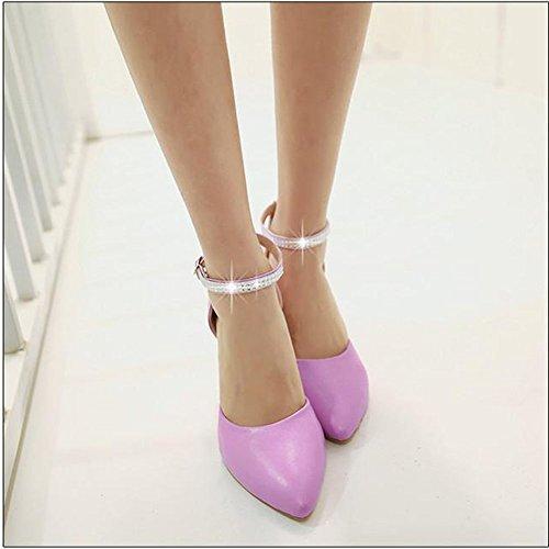 640ab393 Moda Mujer PU Tacones Cuña Tacón De Dama De Honor Tacones De Novia Zapatos  De Boda