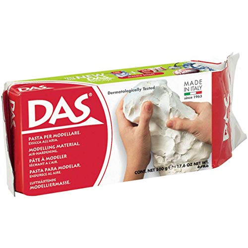 (DAS Air Hardening Modeling Clay, 1.1 Pound Block, White (387000))