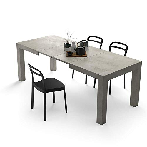 Ikea Tavoli Allungabili Con Sedie.Mobili Fiver Tavolo Allungabile Moderno Iacopo Cemento 140 X