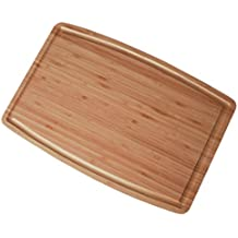 Classic Large Bamboo Cutting Board with Drip Groove