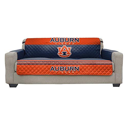 Pegasus Sports NCAA Auburn Tigers Furniture Protector with Elastic Straps, Sofa, Navy Blue