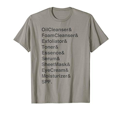Korean Beauty 10-Step Skincare Routine T-Shirt, Classic Fit from Hobbyist