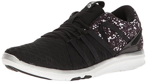 ASICS Women's Gel-Fit Yui Cross-Trainer Shoe, Black/Silver/White, 10 M US