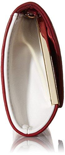 BMC Main Pochette Blanc Métal Cuir Enveloppe Synthétique Rabat Sac Brique À Femmes Rouge Accent Mode Réfractaire r7wYqr
