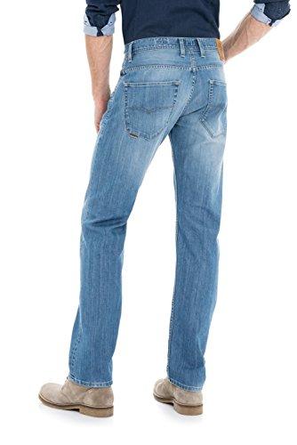 Salsa - Jeans jambe droite Navarro avec délavage clair - Homme
