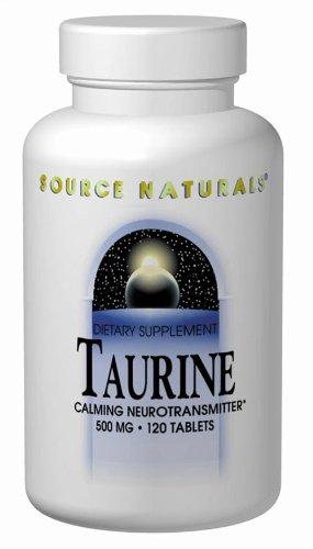 Source Naturals - Taurine 500 mg, 120 comprimés