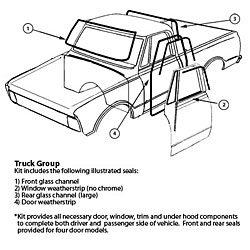 SoffSeal KIT925E Weatherstrip Kit '67-72 Truck