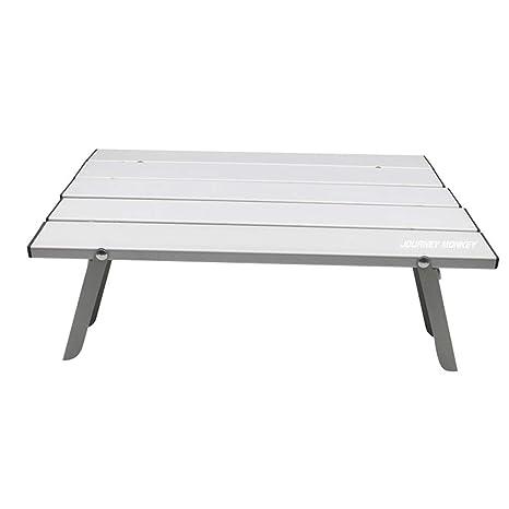 Dizie - Mesa Plegable para Exterior (Aluminio, Mesa portátil ...