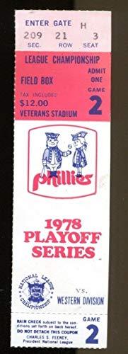 1978 NLCS Ticket LA Dodgers v Philadelphia Phillies Veterans Stadium Ex/MT 43574
