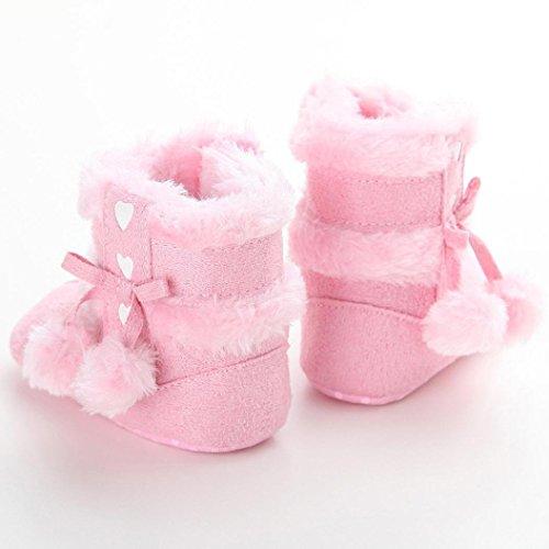Zapatos Bebé,Xinantime Botas de Nieve Suaves Chica Calientes Niño Invierno (17, Rosa1) Rosa2