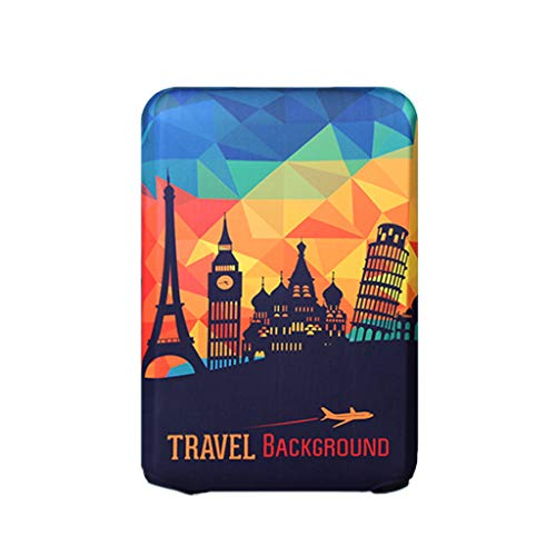 Goddesslili Luggage Cover, Attractions in Europe Suitcase Cover Apply to 18''-32'' Luggage, for Women Men College Student, Back to School Supplies 2019