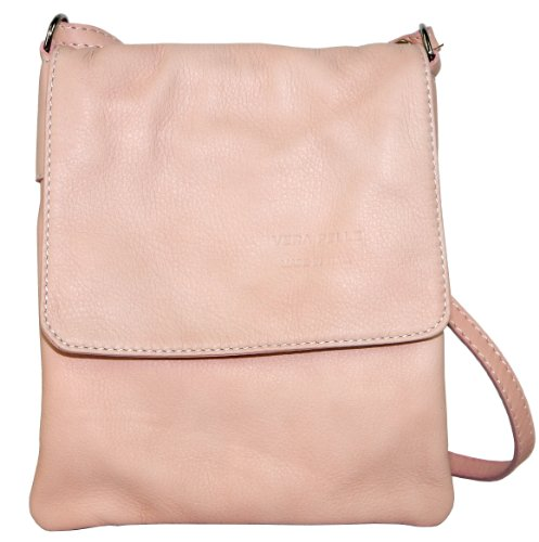 Pink Leather Small Medium Handbag Small and Primo Baby Body Made Branded Sacchi Messenger Bag Cross a Shoulder Italian Protective Soft Storage Hand Includes Bag t1qwS4gq