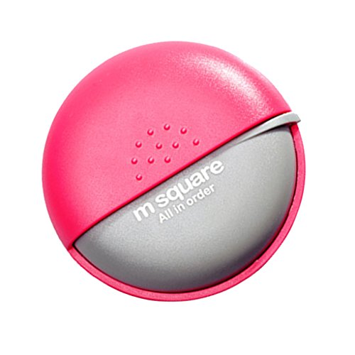 Pink Travel Earphone (MagiDeal Plastic Multi-Purpose Pills Earphone Jewelry Storage Box Case Organizer - Pink, Diameter: Approx.6.5CM)
