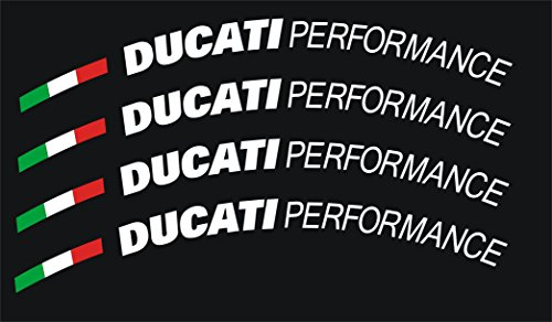 Ducati Performance Wheel Decal Set (White)