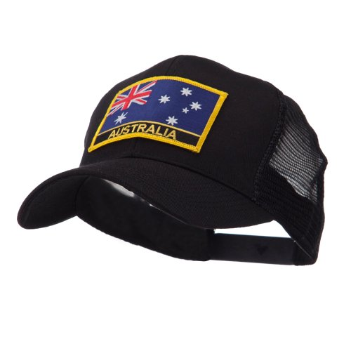 Asia, Australia and Other Flag Letter Patched Mesh Cap - Australia OSFM (Australia Cap)