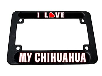I Love Heart My Chihuahua Motorbike Motorcycle Licence