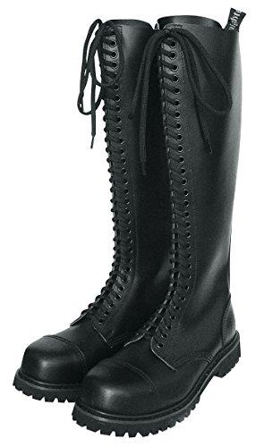 30 Fori Rangers Boots Stivale Knightsbridge Boot Nero con Cappuccio Acciaio - <em>     not present    </em>    , 46