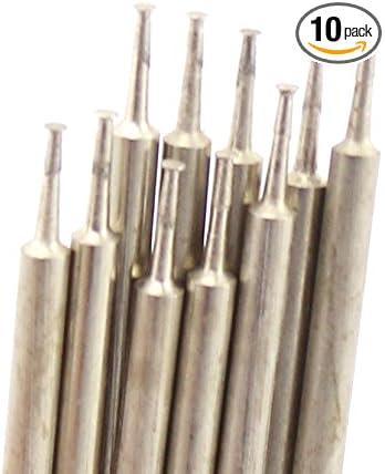 30pcs 1.5mm Diamond Mounted Cylinder Head Dremel Grinding Rotary Drill Bit Set
