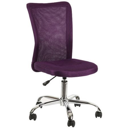 Versatile, Comfortable Adjustable Breathable Material Mainstays Desk Chair, Multiple Colors, Purple by Mainstay