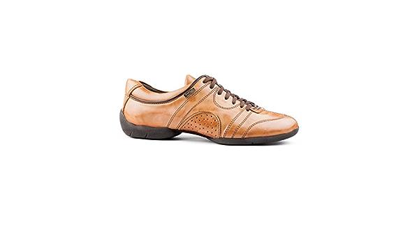 Made in Portugal Portdance Hommes Sneakers//Dance Sneakers PD Casual Cuir Noir Semelle de Sneaker