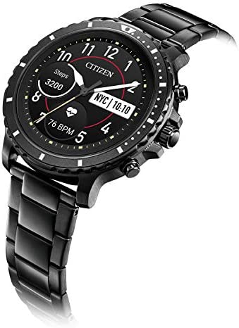 Citizen CZ Smart HR Heart Rate Smartwatch 46mm Gray IP Stainless Steel bracelet Watch, Powered by means of Google Wear OS