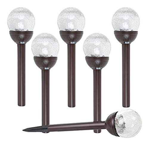 Crackle Glass Globe Solar Lights