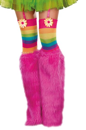 Dreamgirl Boot Covers, Neon Pink, One Size