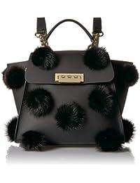 Eartha Iconic Convertible Backpack-Fur Pom
