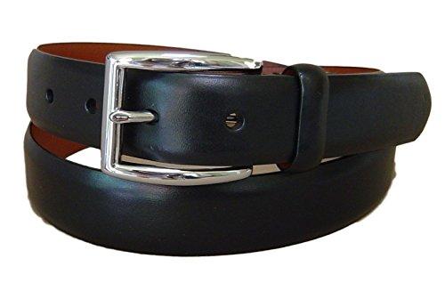 Polo Ralph Lauren Mens Leather Buckle Casual Belt Black (Calfskin Belt)
