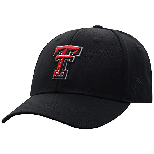 Top of the World Texas Tech Red Raiders Men's Memory Fit Hat Icon, Black, One Fit