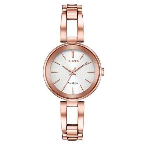 - Ladies' Citizen Eco-Drive Axiom Rose Gold Bracelet Watch EM0633-53A