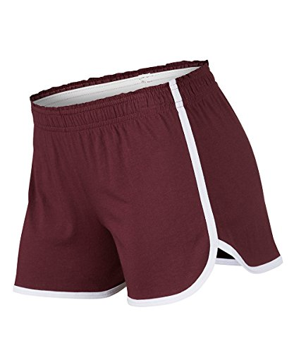 Soffe Juniors Dolphin Short, Maroon, Medium