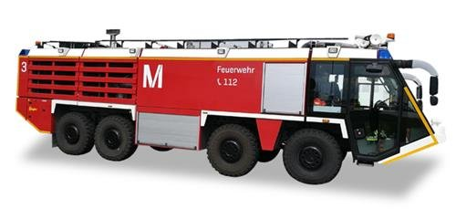 Herpa 558853 Vehicle Scenix – Munich Airport Fire Engine -