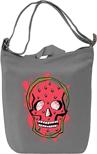 Watermelon Skull Borsa Giornaliera Canvas Canvas Day Bag| 100% Premium Cotton Canvas| DTG Printing|