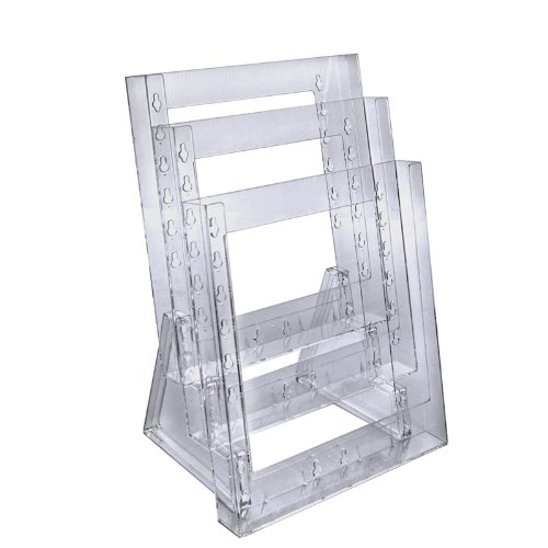 Azar Displays 252304 Three-tier Letter Size Counter Modular Brochure Holder by Azar Displays