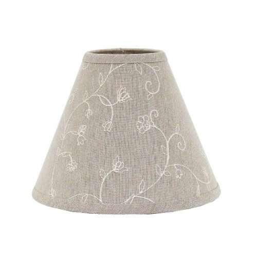 Cheap Home collection by Raghu Candlewicking Regular Clip Lampshade, 12-Inch, Taupe