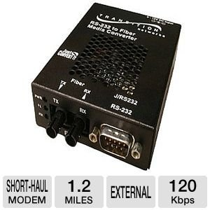 Short Haul Modem (Transition Networks J/RS232-TF-01(SC)-NA Just Convert-IT Stand-Alone Media Converter - Short-haul modem - serial RS-232 - SC multi-mode / 9 pin D-Sub (DB-9) - up to 1.2 miles - 1300 nm)