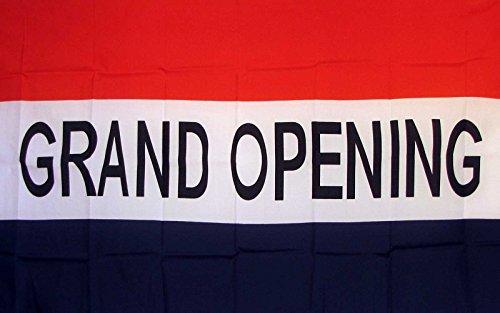 Grand Opening Flag 3' X 5' Deluxe Indoor Outdoor Business Banner