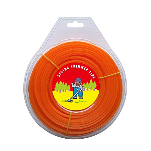 ZeeYee .120-Inch x 1-Pound Square String Trimmer Lines Replacement for Trimmers, Orange, 1LB
