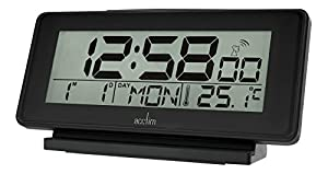 acctim 71643 nemus black radio controlled alarm clock kitchen home. Black Bedroom Furniture Sets. Home Design Ideas