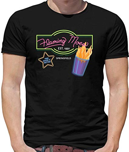 (Dressdown Flaming Moes - Mens Crewneck T-Shirt - Black -)