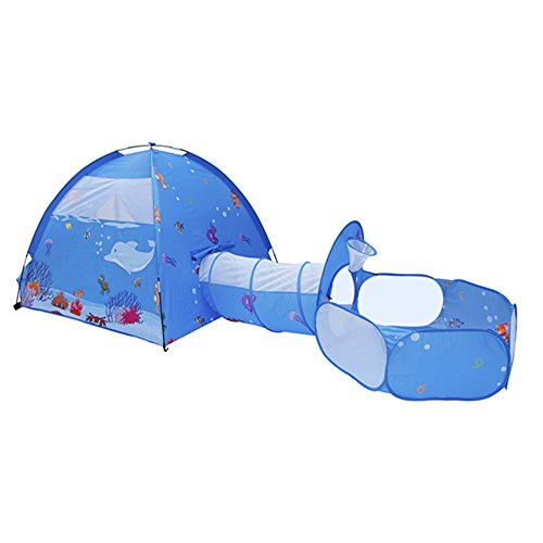ALPIKA 3pc Kids Play Tent Pop-up Tunnel & Ball Pit Toy Playhouse As Gifts Toddlers Children Indoor&Outdoor Playing for $<!--$49.99-->