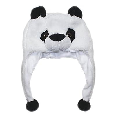Lucore Soft Plush Animal Faux Fur Novelty Hat- Winter Aviator Costume Hoodie & Scarf