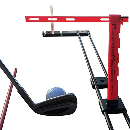 Alignment Made Easy Club Face Alignment Training Aid. One Golf Training Aid to Improve Your Full Swing, Putting, and Short Game. -